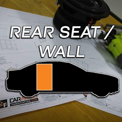 Rear Seat / Wall - Subwoofer Blueprint Design
