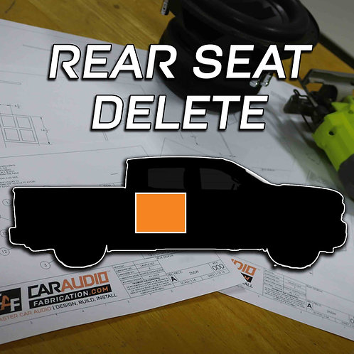 Rear Seat Delete Subwoofer Blueprint Design