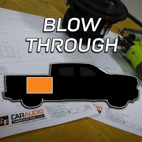Blow Through Subwoofer Blueprint Design