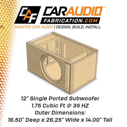 car subwoofer box design pdf