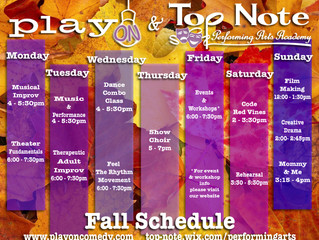 Fall Classes Start throughout September!