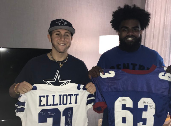 Cowboys RB Ezekiel Elliott started making this cancer patient's day two years ago. Sunday and Mo