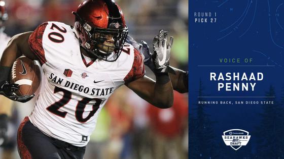 Seahawks Draft Running Back Rashaad Penny No. 27 Overall In 2018 NFL Draft