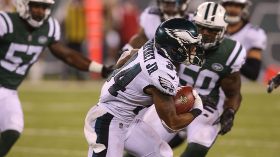 Eagles' running back Donnel Pumphrey is looking at a big 2018
