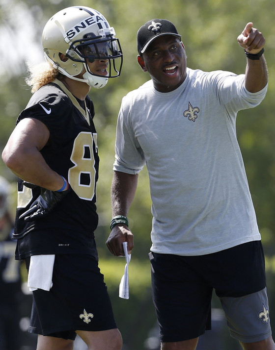 Saints coach Curtis Johnson adding extra fire to training camp