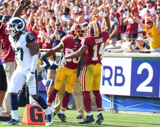 The Redskins have long praised Ryan Grant. He showed why vs LA Rams