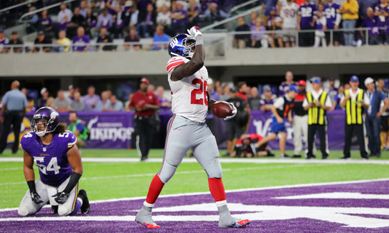 Ex-Giant Orleans Darkwa healthy, ready for NFL return