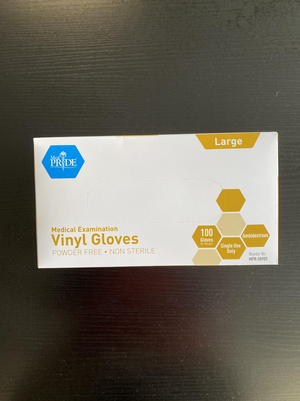 MedPride Vinyl Gloves M/L