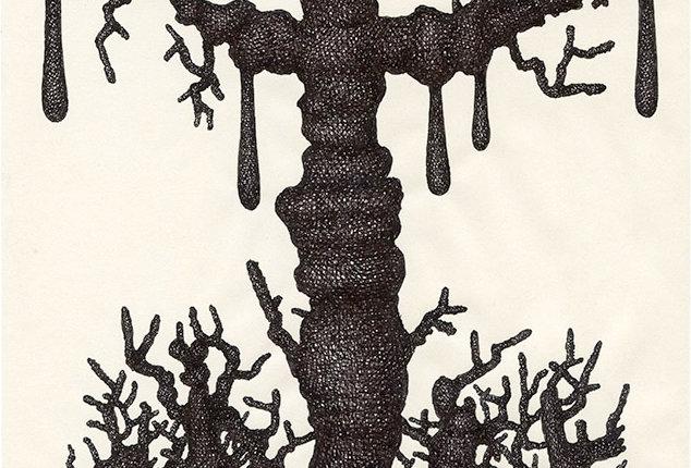 Chloé Poizat, Mud drawing, 2019