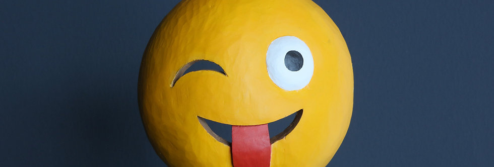 """Claudia Larcher, face2face / Mask """"winking face with tongue"""", 2020"""