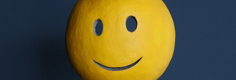"""Claudia Larcher, face2face / Mask """"slightly smiling face"""", 2020"""