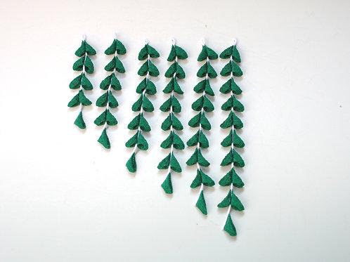 HA018s:濃グリーン色のちりめん下がり(6本セット)