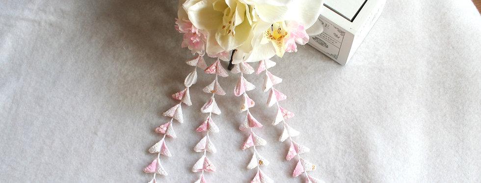 HA028:ヘッドドレス胡蝶蘭と桜と下がりの組み合わせ