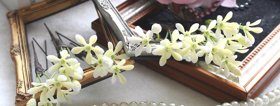HA020:スターフラワーの小花パーツの髪飾り(12パーツ)