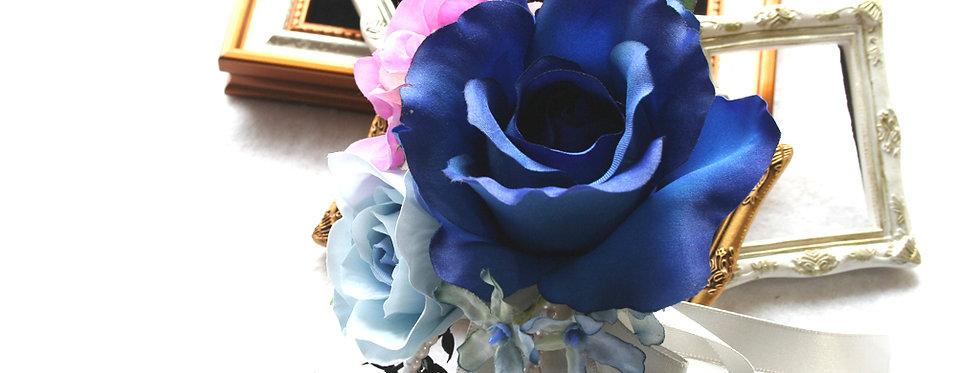 CS012:ロイヤルブルーバラのコサージュ