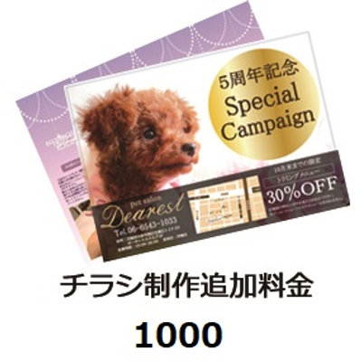 フライヤー、チラシ制作追加チケット¥1100(税込)