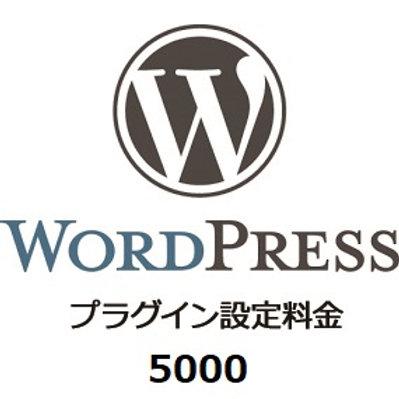 WordPressプラグイン設定チケット¥5500(税込)