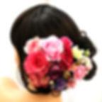 バラのパーツセットの髪飾り