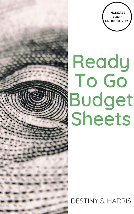 Ready to Go Budget Sheets