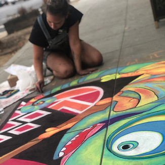 chalk art.