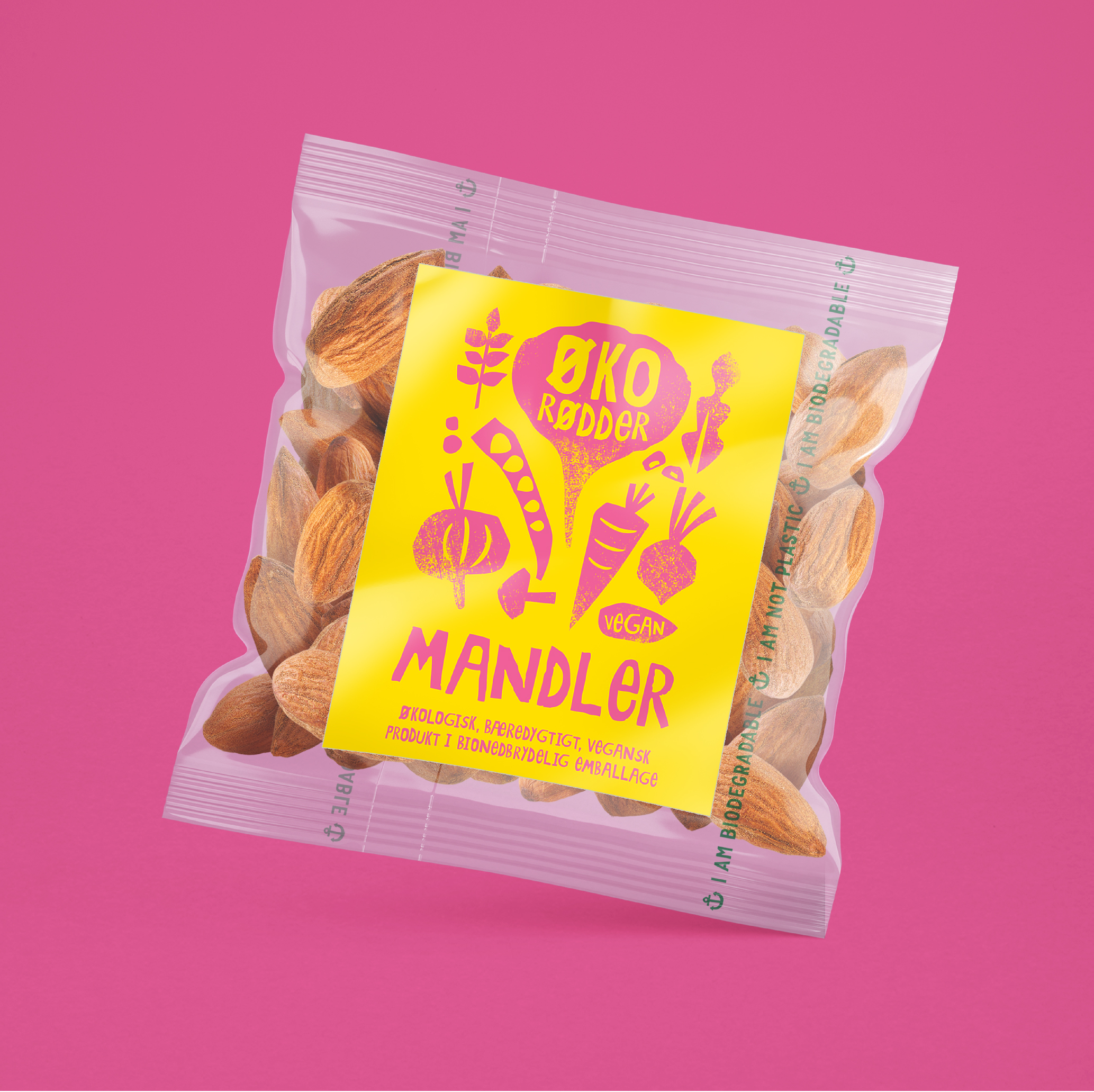 Øko Rødder Almonds Packaging