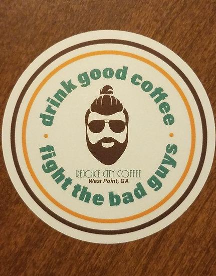 Rejoice City Coffee Circle Logo Sticker