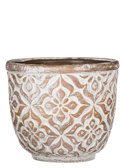 Large Round Patterned Planter