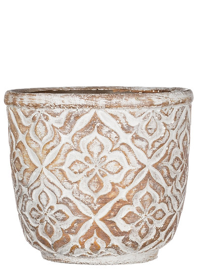 X-Large Round Patterned Planter