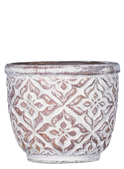 Small Round Patterned Planter