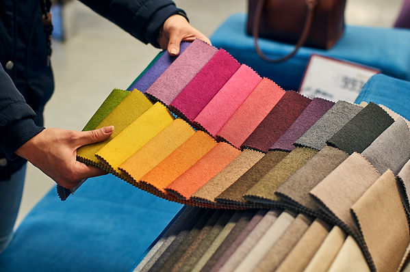 Choosing a fabric color can be overwhelming. Let one of our designers make it fun!