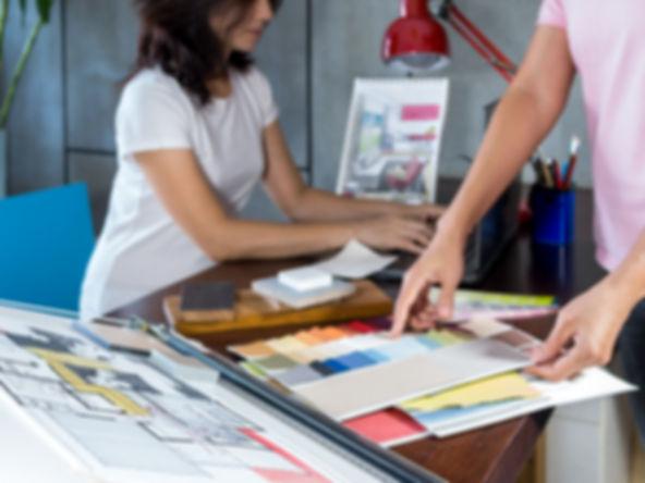 Design team working in modern Architects