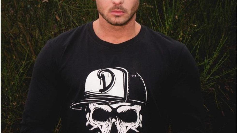 Men's Long sleeve Cypress Skull t shirt.