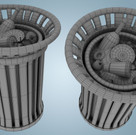 Trash Can Wireframe