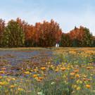 Fall Scene Flower Detail