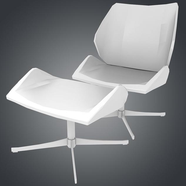 Dauphin 4 Chair and Ottoman