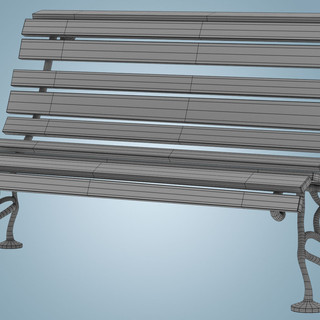 Bench Wireframe