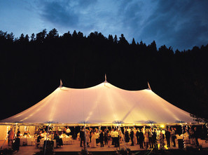 Stunning Tent in the Evening at Blackstone Rivers Ranch