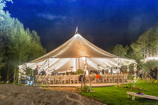 Elegant Mountain Wedding Tent at Blackstone Rivers Ranch