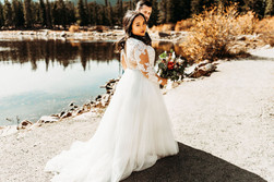 A bit of a stroll | Couple wed @ Blackstone Rivers Ranch Idaho Springs Colorado