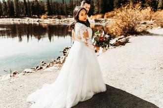 A bit of a stroll   Couple wed @ Blackstone Rivers Ranch Idaho Springs Colorado