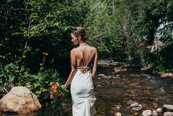 Natural bride on the river at Blackstone Rivers Ranch
