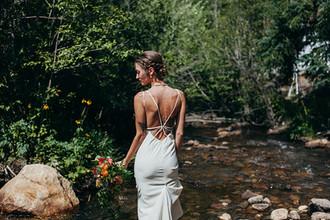 Natural bride on the river at Blackstone Rivers Ranch