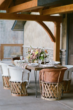 Boho Chic Bohemian Wedding Dining Table at Blackstone Rivers Ranch