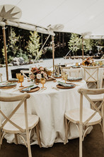 Fine Dining in the Reception Tent at Blackstone Rivers Ranch