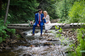 Lovers above the river at Blackstone Rivers Ranch