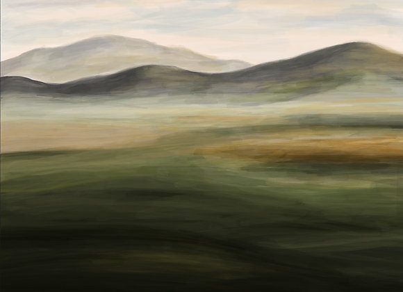 Acrylic Green Hill - Digital Print