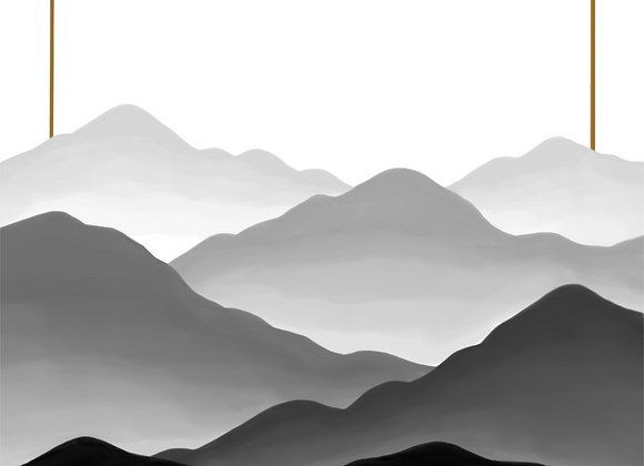 Fogged Mountains 2 - Digital Print