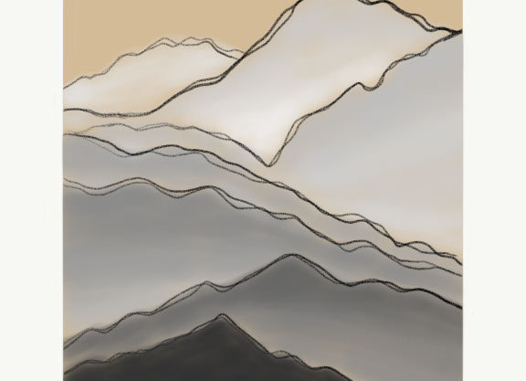 Mountain Tops - Digital Print