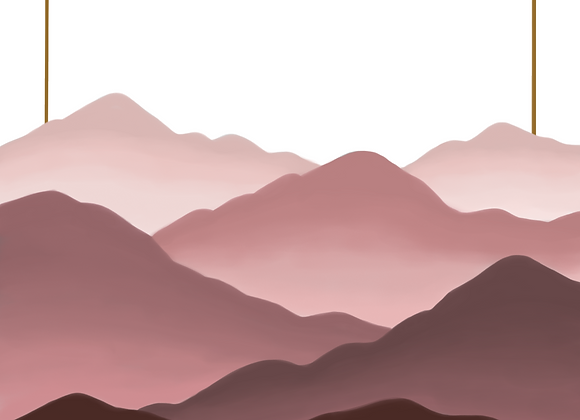 Pink Fogged Mountains - Digital Print