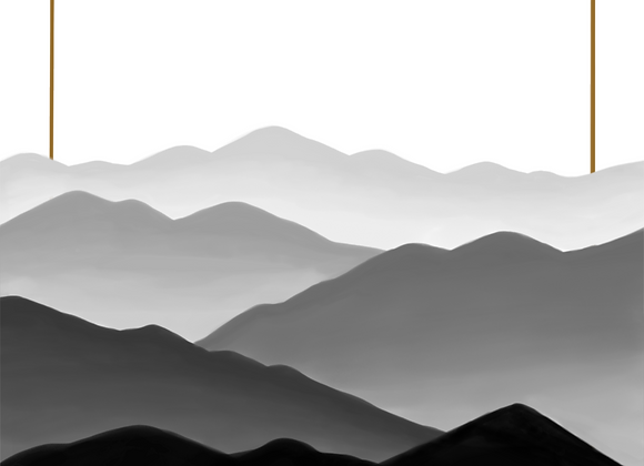 Fogged Mountains 3 - DigitalPrint